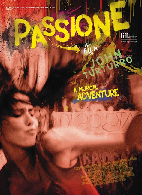 Turturro Passione movie poster recalls vintage Italian style