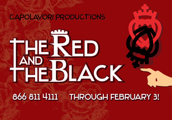 The Red and the Black, off-Broadway play graphics