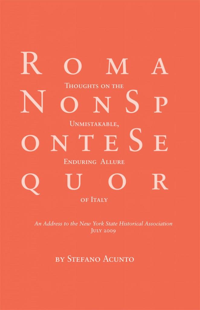 Roma Non Sponte Sequor, book design