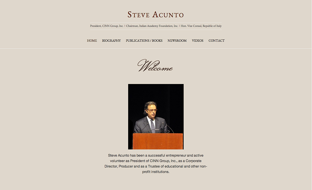 Steve Acunto, website design