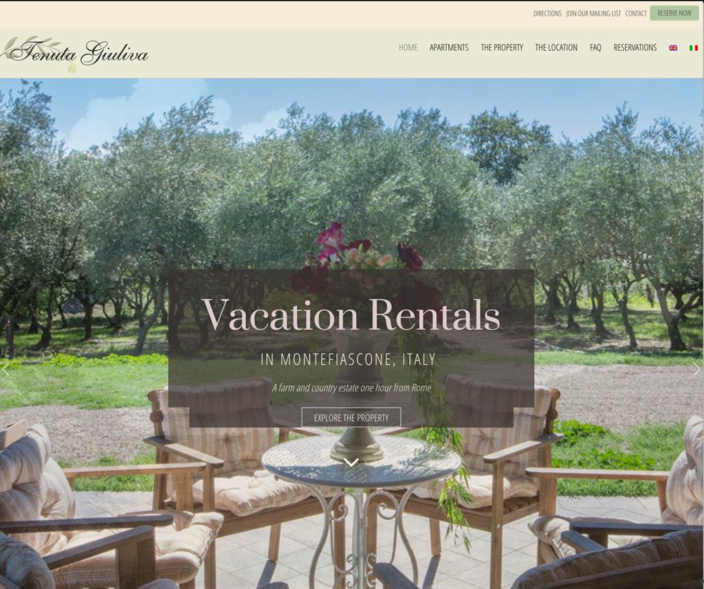 Tenuta Giuliva: web design